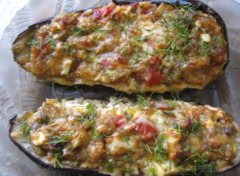 ПП-баклажаны, фаршированные овощами