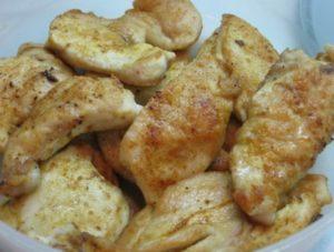 Куриное филе в маринаде из мёда.
