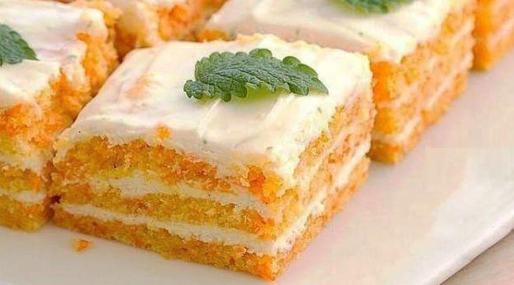 ПП-пирожные из моркови и творога