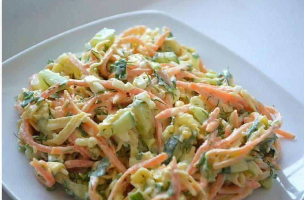 ПП-салат из куриного филе с корейской морковью.