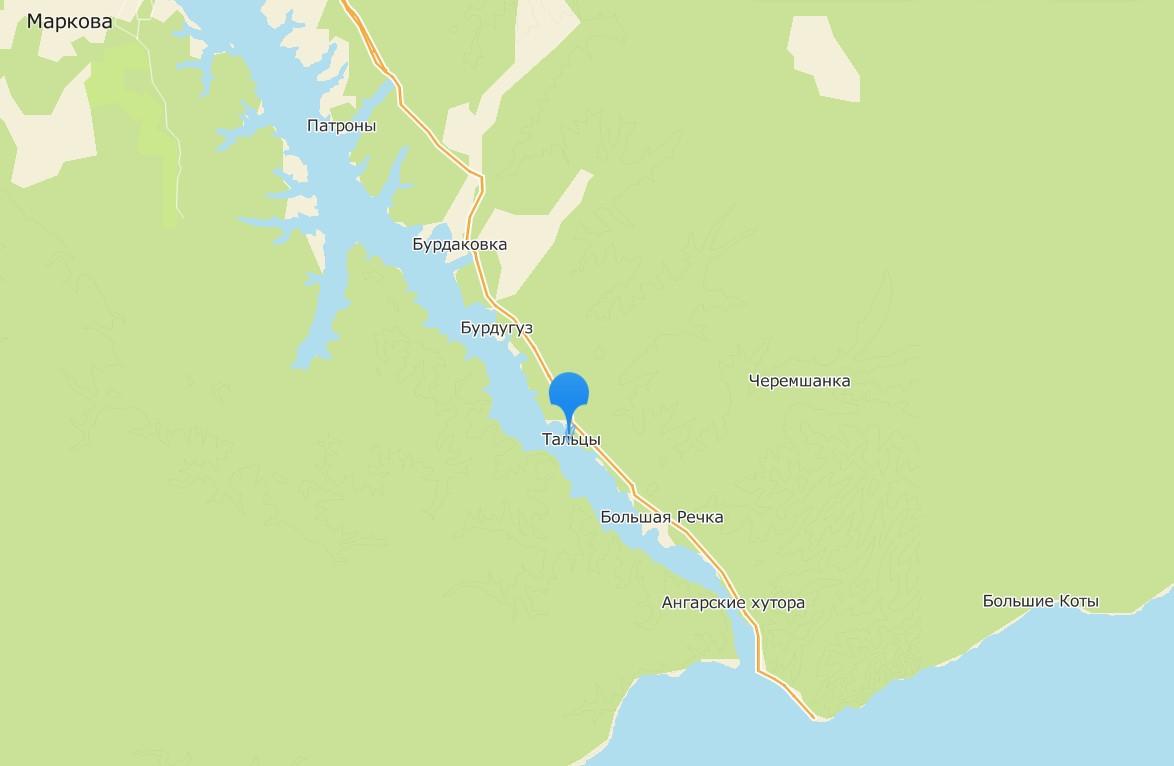 Музей Тальцы на карте.