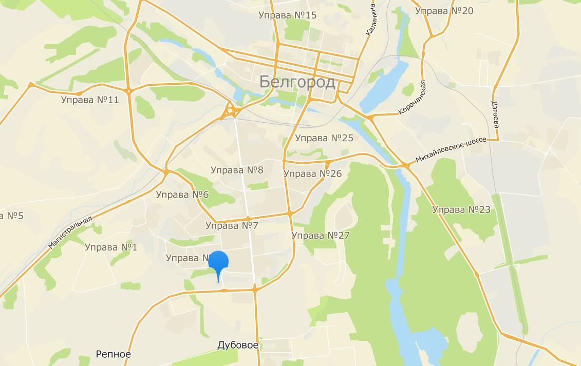 Леруа Мерлен Белгород на карте