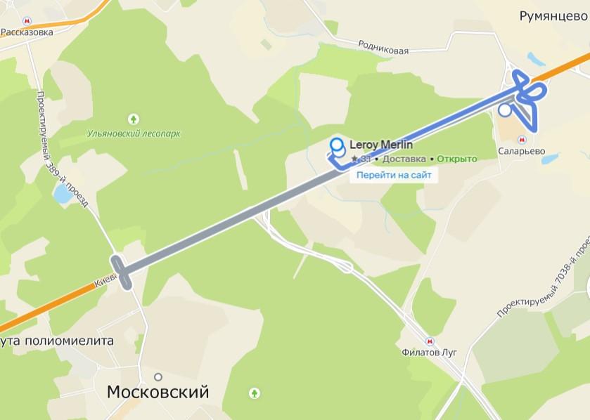 Маршруты бесплатных автобусов до Леруа Мерлен Московский.
